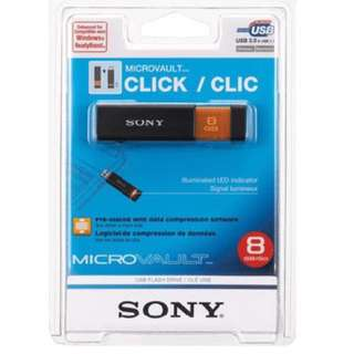 SONY Microvault Click 8GB High Speed USB Flash Drive with Virtual Expander and Compression Software