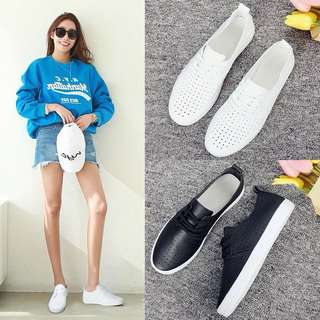 Flat bottom breathable women's shoes with thick soles wild shoes Korean shoes