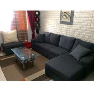 RUSH SALE!! SOFA SET (FREE CENTER TABLE)q