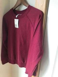 H&M Lightweight Sweatshirt in Rose Wine