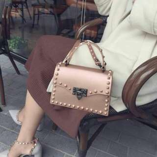 Valentino Studs Jelly Bag Pink Color