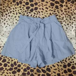 bench skort in  soft denim sky blue