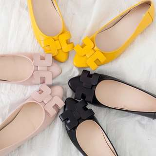 (31~44) 2018 spring new Korean version of the H bow shoes h pointed flat shoes female shallow mouth soft bottom flat shoes