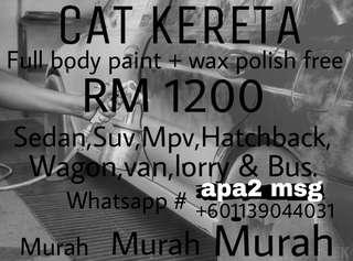 CAT kereta + wax polish free
