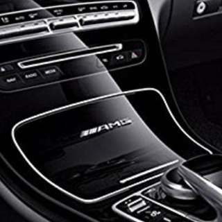 Style Interior Car Silver /Balck / Red - Sport ///AMG Badge Sticker For Mercedes