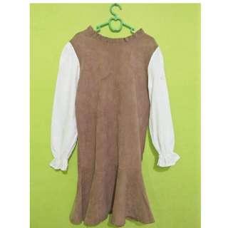 I04 Dress coklat