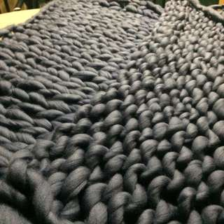 Affordable hand knitted blanket