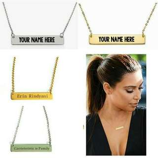 Customized Name Plate Necklaces
