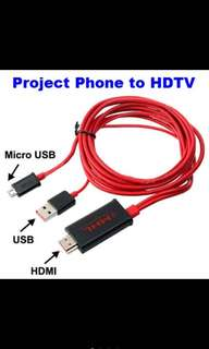 Micro USB to HDMI Cable - Project Phones To HD Tv