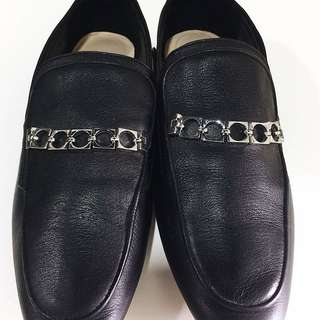 Zara soft leather loafers with chain