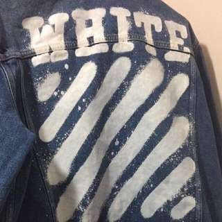 Off white denim jacket xs