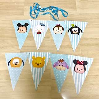 Tsum Tsum party Bunting Flags