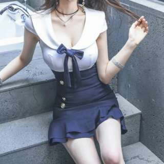 韓國修身顯瘦優雅連身裙
