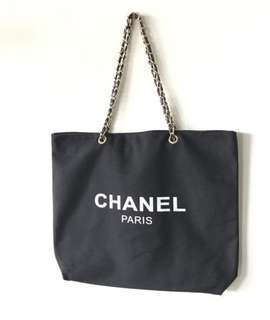 Chanel Canvas Chain Tote Bag VIP GIFT AUTHENTIC‼️