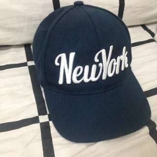 Navy Blue Terranova New York Cap