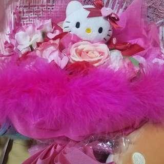 ~情人必備~手作hello kitty粉紅色花束