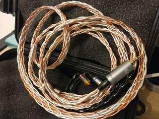 8絞冷涷7N單晶銅 銀銅混織 Astell & kern 2.5mm平衡頭 mmcx for campfire Andromeda  fender shure  westone w80