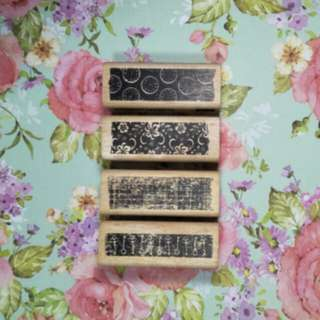 Wooden Stamps (with sample)
