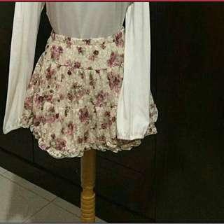 Rok bunga , floral skirt
