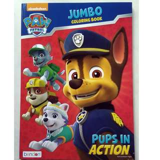 Jumbo Coloring Book - Paw Patrol - Pups In Action