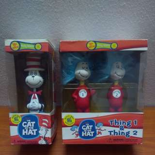 Cat in the Hat, Thing 1 & 2 Bobble Head
