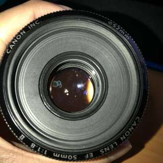 Canon Lens EF 50mm f1.8 Mark 2