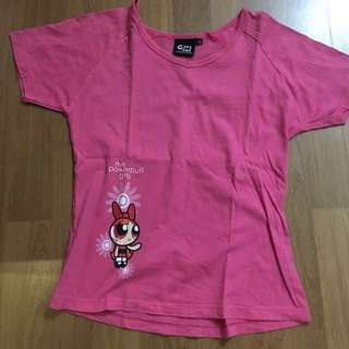 Powerpuff round neck shirt