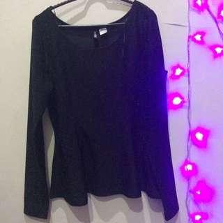 H&M glitter blouse stretch