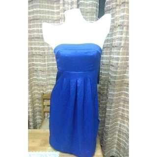 MEDIUM Nwtags tube dress.  Blue, size 10. Price on tag $13.99