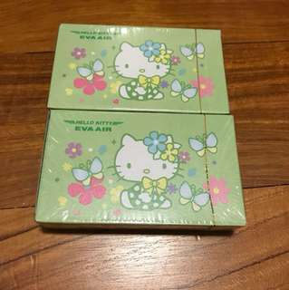 Eva air hello kitty playing cards (set of 2)