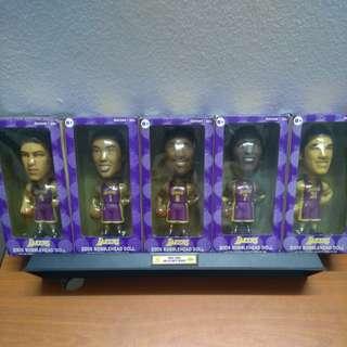LA Lakers Bobble Head Full Set