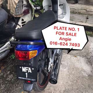 Nice Number Plate No.1 For Sale