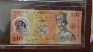 2011 $10 brunei note.