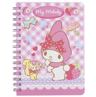 PO Sanrio Characters A6 Bind Notebook