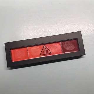 3ce lip palette 唇膏盤