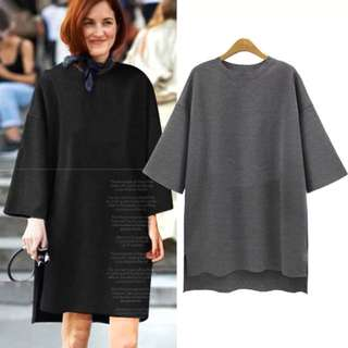 (L~5XL) Plus Size casual oversized women's dress