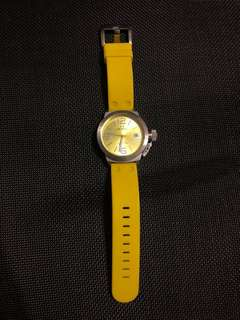 TW Steel 520 Yellow Silicon Unisex Watch