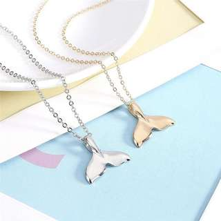 Mermaid Whale Tail Pendant Necklace