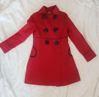 Soia and Kyo Red Trench Coat (small)