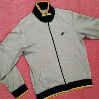稀有配色 銀色Nike古著黃白包邊外套