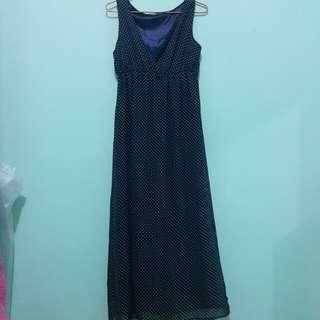 Deep V Polka Dot Dress