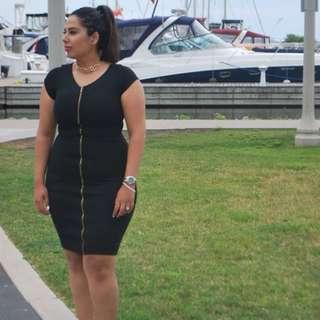 Suzy shier black dress