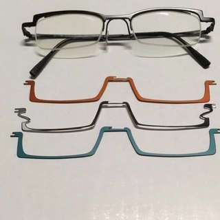 Unisex Glasses with 3 Clips