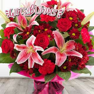 Beautiful Fresh Flower Surprise for Special One Bouquet Roses Sunflower V22 - HIDBE
