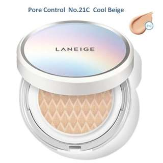 Laneige BB Cushion Pore Control - Cool Beige