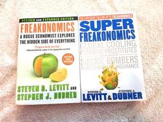 Freakonomics and Super Freakonomics by Stephen D. Levitt and Stephen J. Dubner