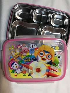 Stainless steel compartment bento box - pororo