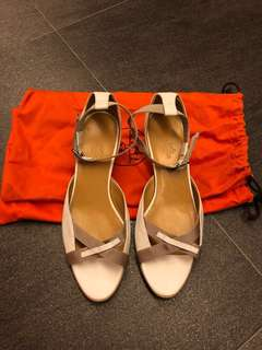 Hermes white sandals - size 39