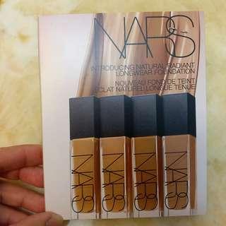 [試用裝] [Sample] NARS Foundation 粉底 粉底試用裝 8隻色 8x0.5ml 試用裝 [全新]  **只有一套**