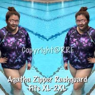 Agatha Zipper Plus Size Rashguard
